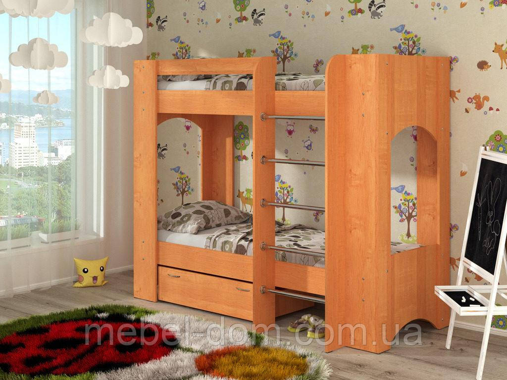Двухъярусная кровать Дуэт-2. Разные цвета