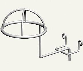 Торговий гачок (крючок) для шапок напівсферичний на стіну ДСП, дерево, пластик, бетон