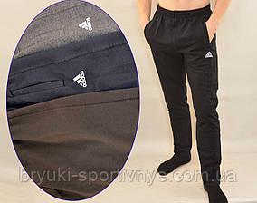 Брюки спортивные трикотажные мужские Adidas с карманами на молнии - Штаны спортивные