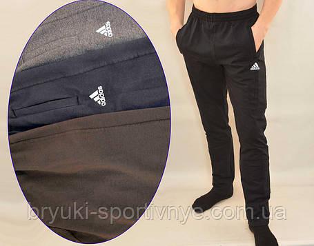 Брюки спортивные трикотажные мужские с карманами на молнии - Штаны спортивные, фото 2