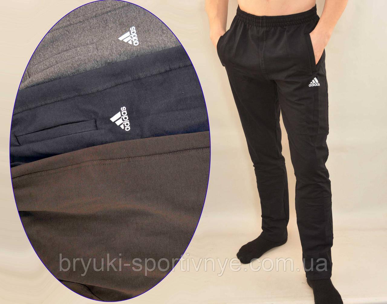 4ba73427f63c Брюки спортивные трикотажные мужские Adidas с карманами на молнии - Штаны  спортивные - интернет-магазин