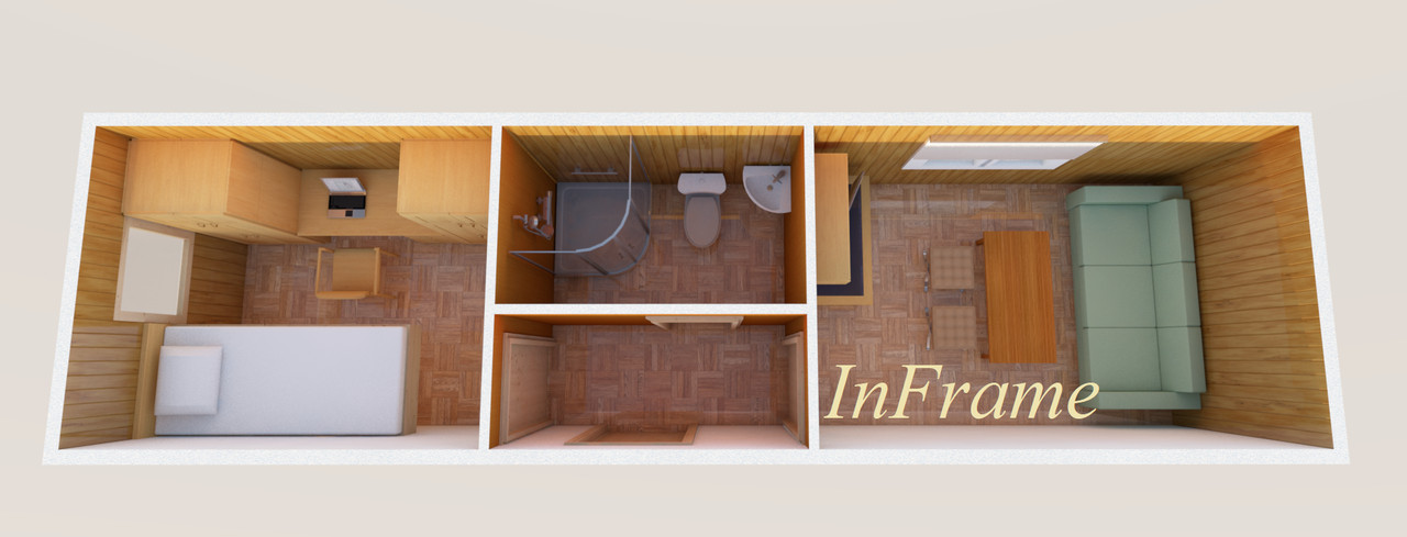 Мобильный домик 2,5х9м