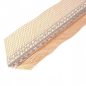 Угол пластиковый с сеткой 100*100мм*3м