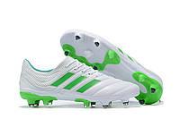 Футбольные бутсы adidas Copa 19.1 FG White/Solar Lime/White, фото 1