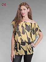 Блузка двойка желто-черная, фото 1