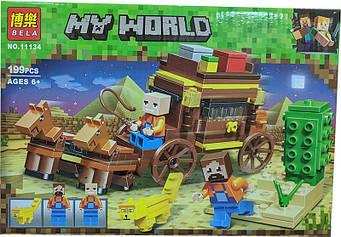 """Конструктор Minecraft Bela 11134 """"Подорож по Єгипту"""" 199 деталей 2019 р."""