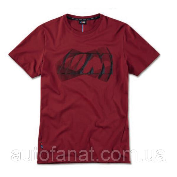 Оригинальная мужская футболка BMW M Logo T-Shirt, Men, Burgundy (80142463080)