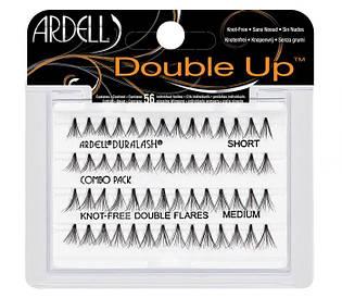 Двойные безузелковые пучковые накладные ресницы Ardell™ Individual Double Flare Lashes Knot Free Combo