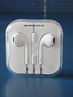 Наушники с микрофоном белые Apple Iphone