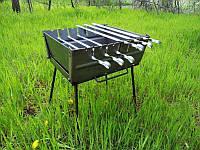 Мангал-чемодан на 6 шампуров | 2мм | холодный прокат