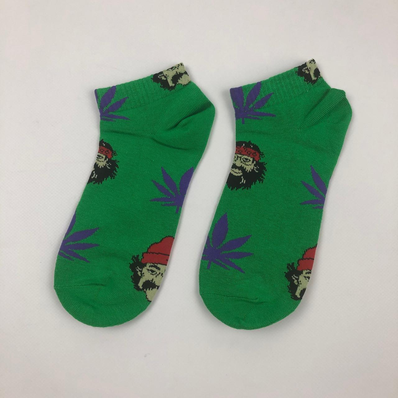 Носки HUF Cheech Chong - Низкие - Зеленые (Фиолетовый лист)