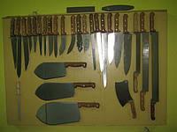 Ножи мясоразделочные, поварские, для сыра с двумя ручками, гастрономические, рубаки с деревянной ручкой.