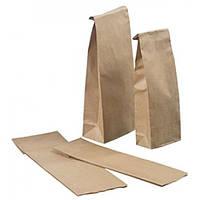 Бумажный пакет з плоским дном для чая, кофе, муки 265х85х65 (коричневий,65гр/м2)