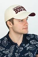 "Мужская  кепка ""Boston"",бежевая, фото 1"