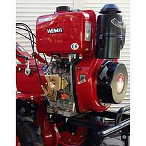 Мотоблок дизельный  WEIMA WM1100В PRO ( 9 л.с, 2+1 скор., 4.00-10, диски, фреза 2+1+1)), фото 2