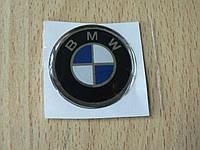 Наклейка s круглая BMW 45х45х1.4мм силиконовая эмблема логотип марка бренд в круге на авто 3М БМВ, фото 1
