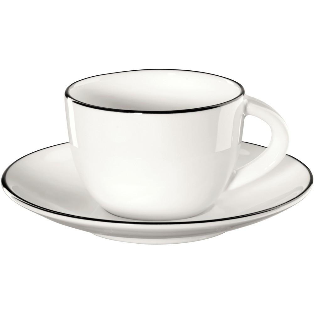 Чашка с блюдцем Asa Table Ligne Noire 70 мл 1930113