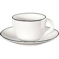 Чашка с блюдцем Asa Table Ligne Noire 70 мл 1930113, фото 1