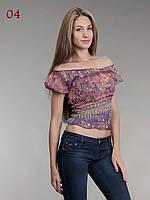 Топ женские шифон фиолетовый, фото 1