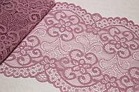 Кружево Медуза стрейч 18см*5м - Бледно-розовое