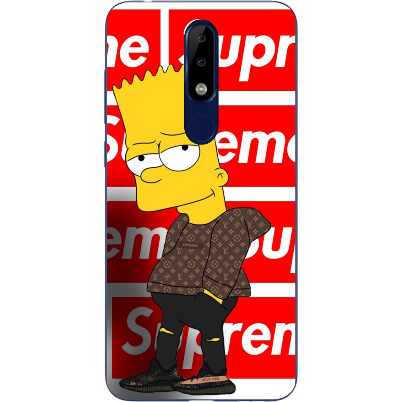 Бампер силіконовий чохол для Nokia 5.1 Plus з картинкою Сімпсон