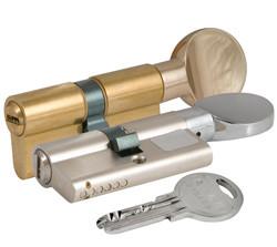 Цилиндровый механизм KALE 164 SМ/100 (45+10+45) mm никель