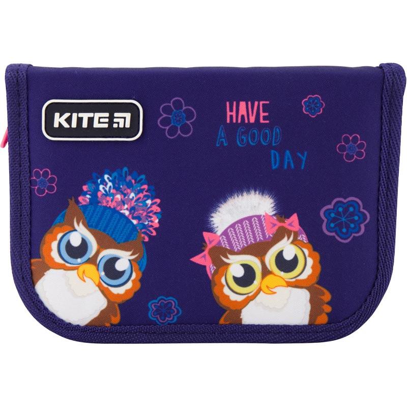 Пенал без наповнення Kite Education Owls K19-622-5, 1 відділення, 2 відвороти