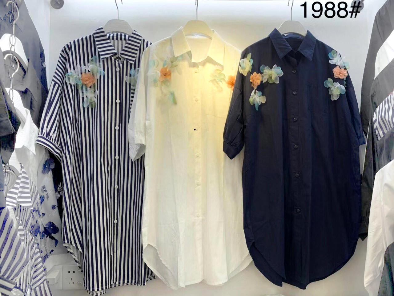 Весеннее платье-рубашка с цветами 44-54 (в расцветках)