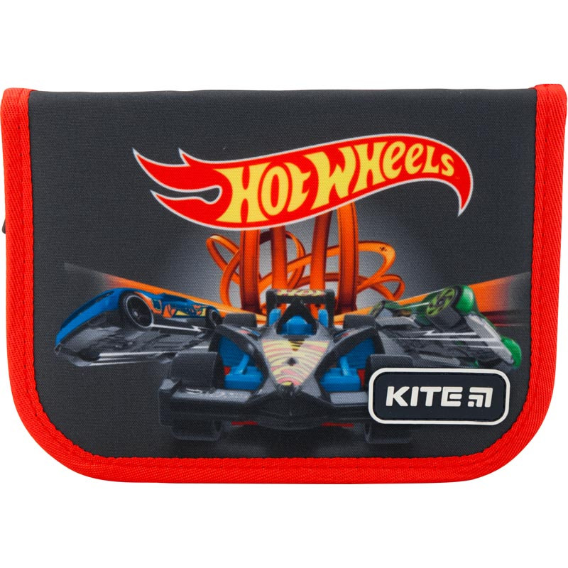 Пенал без наповнення Kite Education Hot Wheels HW19-621-1, 1 відділення, 1 відворот