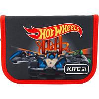 Пенал без наповнення Kite Education Hot Wheels HW19-621-1, 1 відділення, 1 відворот, фото 1