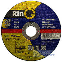 Круг отрезной по металлу Ring 115 х 1,0 х 22,2, фото 1