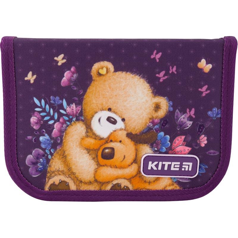Пенал без наповнення Kite Education Popcorn the Bear PO19-622, 1 відділення, 2 відвороти