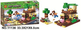 """Конструктор Minecraft Bela 11136 """"Острів скарбів"""" 248 деталей 2019 р."""