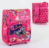 Рюкзак школьный ортопедический С 36175, твердый каркас, 3D принт
