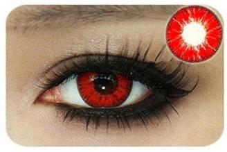 Лінзи контактні червоні (підходить для темних лаз) + контейнер в ПОДАРУНОК