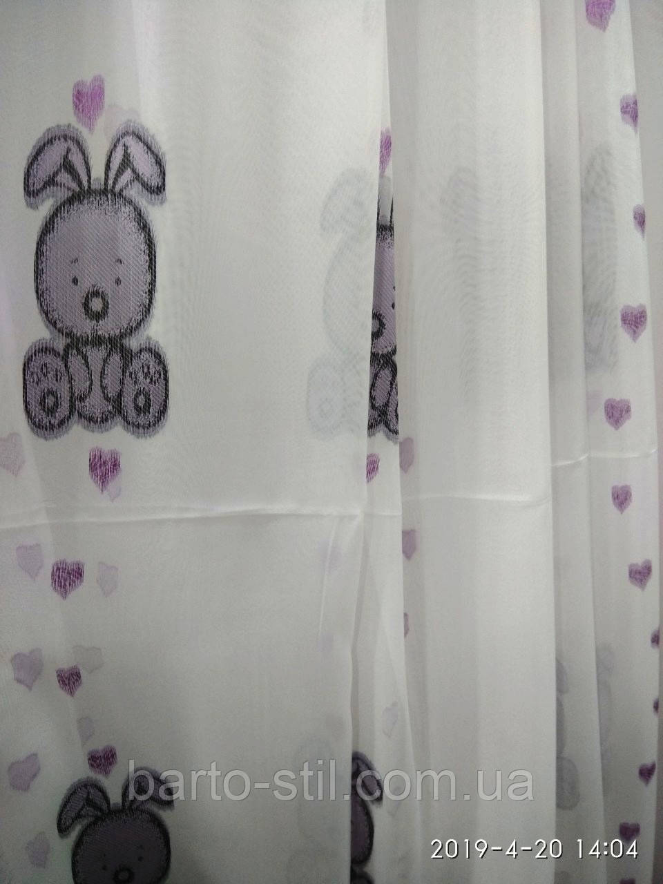 Тюль шифон с цветным рисунком для детской комнаты на метраж и опт Турция