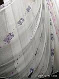 Тюль шифон с цветным рисунком для детской комнаты на метраж и опт Турция, фото 4
