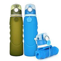 Складная спортивная бутылка для воды 750 мл S5 фляга, фото 1