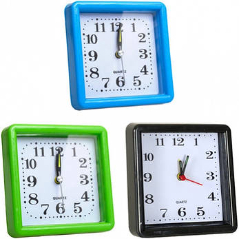 Настольные часы - будильник 10×10×3 см, фото 2