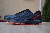 Кроссовки мужские Merrell Bare Access Flex в стиле Мерел Флекс,текстиль,текстиль код OD-1769.Темно-серые
