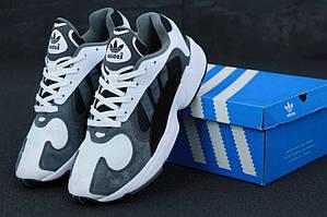 Мужские кроссовки Adidas Yung 1 серого цвета (Адидас Янг 41-45)