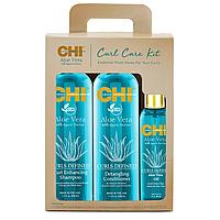 Набор для ухода за влосами с алоэ CHI Aloe Vera Curl Care Kit Set