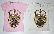 Турецкая футболка на девочек 116,122,128,134,140 роста Королева, фото 3