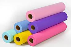 Одноразовые простыни Panni Mlada из спанбонда  в рулоне (0,6х200п/м. 20г/м²) цвета в ассортименте