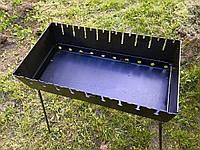 Мангал-валізу на 10 шампурів | 2мм | холодний прокат