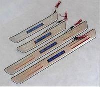 Накладки на пороги Hyundai Elantra 2010-2013 с подсветкой