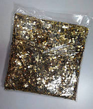 Паєтки 4 мм золото