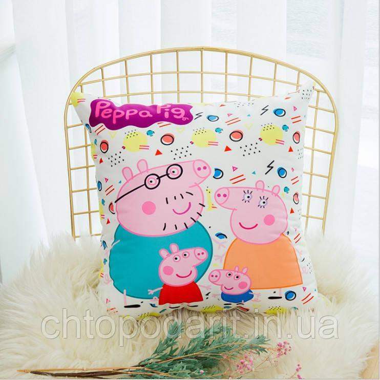 "Подушка свинка Пеппа ""Peppa Pig"" 45х46"