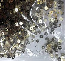 Паєтки 4 мм світле золото