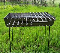 Мангал-валізу на 12 шампурів | 2мм | холодний прокат